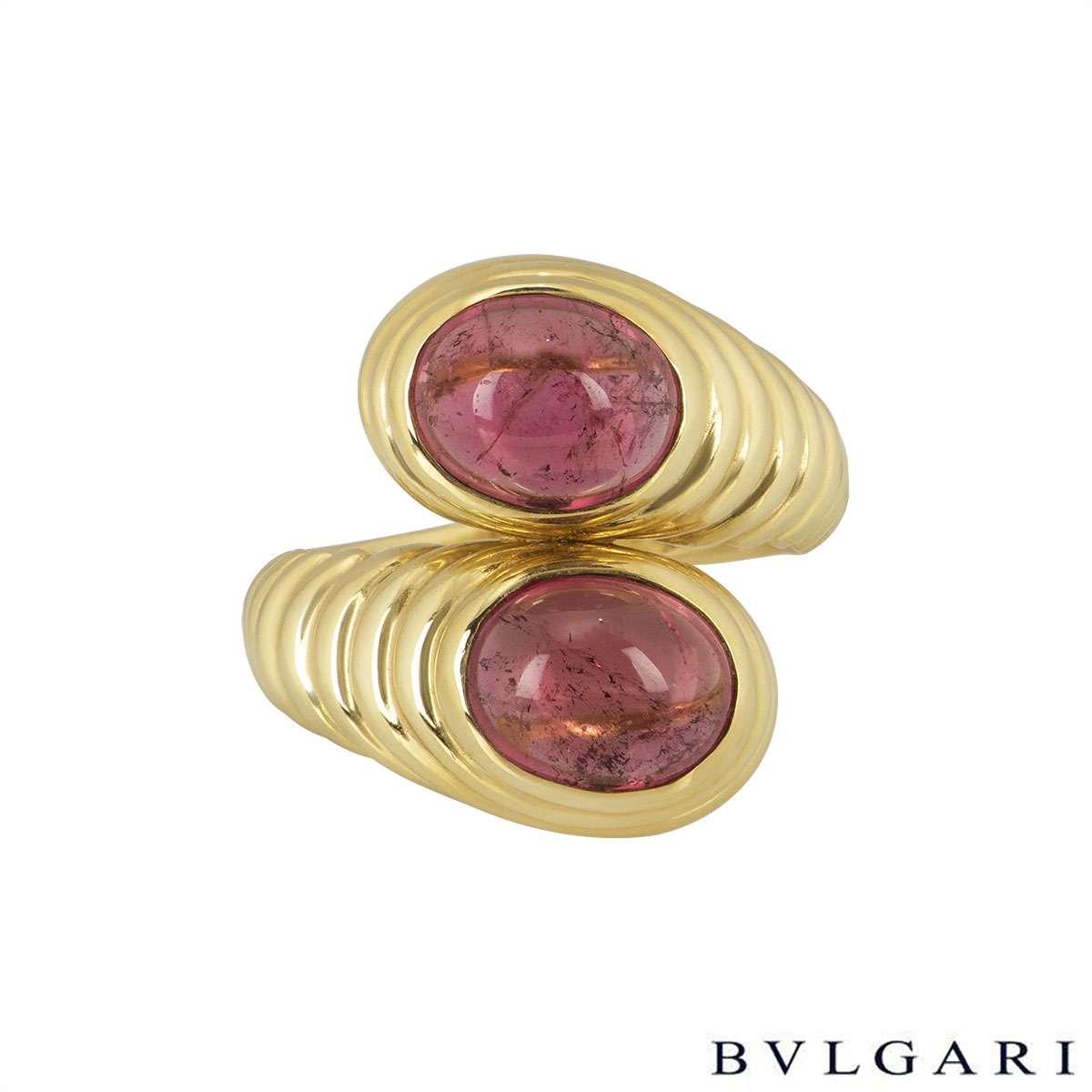 Bvlgari 18k Yellow Gold Amethyst Dress Ring